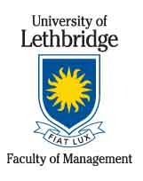 U of Lethbridge Logo